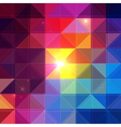 Bright colorful triangles background vector image