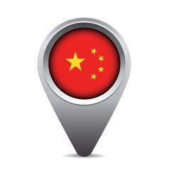 China flag pointer vector image