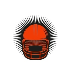Isolated abstract red color baseball helmet logo vector