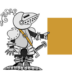 knight with banner vector image vector image
