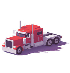 low poly american classic truck vector image