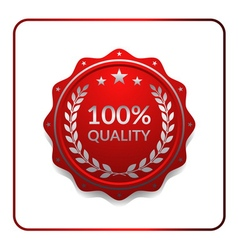 Seal award red icon medal vector image vector image