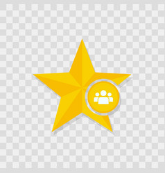 star icon people team icon vector image