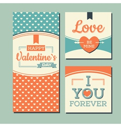 Vintage Happy valentines day and weeding cards vector image vector image