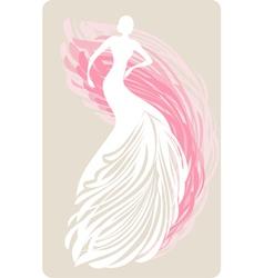 bride mannequin vector image vector image