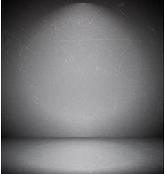 Dark scratched grungy room vector