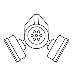Gas mask icon outline style vector image vector image