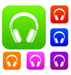 headphones set collection vector image