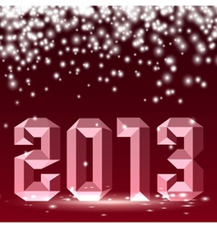 New 2013 year 3D figures with lights vector image vector image