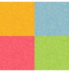 seamless loop spiral patterns in multiple color vector image vector image