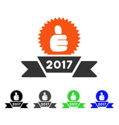 2017 award ribbon flat icon vector