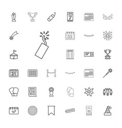 33 event icons vector