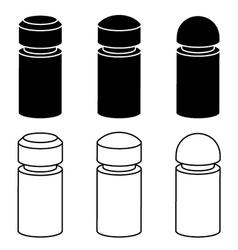 3d modern concrete bollard black symbols vector