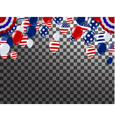 4th of july happy independence day usa white vector image
