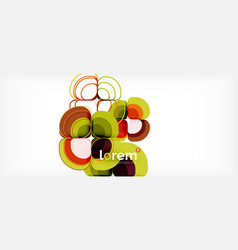 abstract background - geometric multicolored round vector image