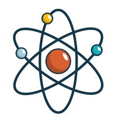 Atom icon cartoon style vector