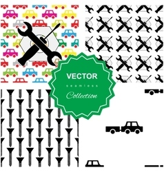 Auto service or car repair pattern vector image