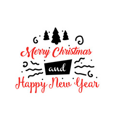 banner or greeting card for merry christmas and vector image