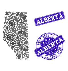 Best service composition of map of alberta vector