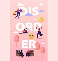 Bipolar mental brain disorder concept female vector