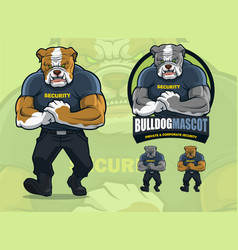 bulldog mascot for security company with optional vector image