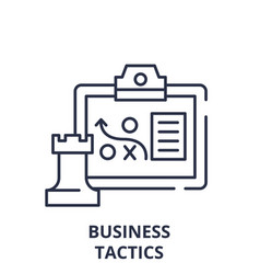 business tactics line icon concept business vector image