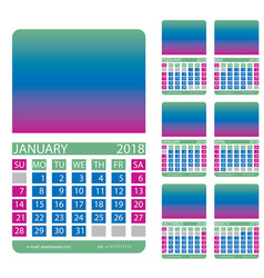 calendar grid december january february march vector image