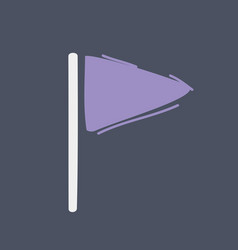 cartoon flag icon on dark vector image