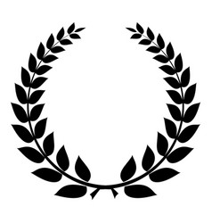Champion wreath icon simple style vector