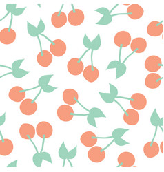 cherries background seamless pattern vector image