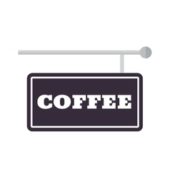 Coffee sign vector image