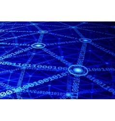 Computer network vector image vector image