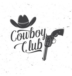 Cowboy club badge ranch rodeo concept vector