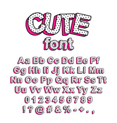 Cute lol doll surprise style font vector