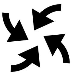 Cyclone Arrows Flat Icon vector