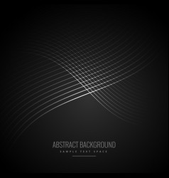 dark background with shiny flowing lines vector image