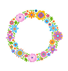 Decorative frame from flowers vector