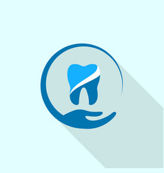Dental hand care logo icon flat style vector