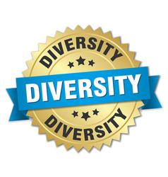 diversity round isolated gold badge vector image