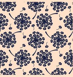 elegant dandelion blue floral seamless vector image