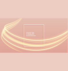 elegant golden light streak background with text vector image