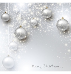 Elegant shiny Christmas background with baubles vector image