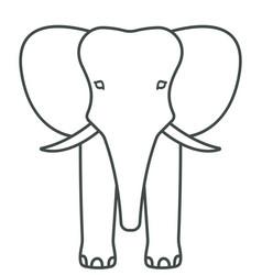 Elephant face contour icon vector