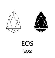 Eos black silhouette vector