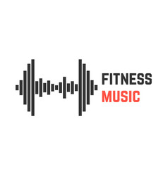Fitness music with dumbbell equalizer vector