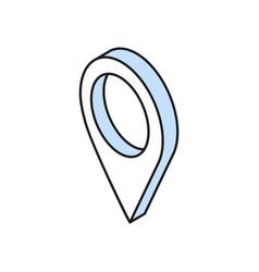 Geolocation marker icon vector