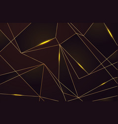 gold line mosaic background golden lines on black vector image