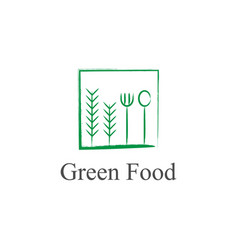 green food logo design vector image