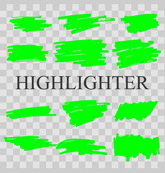 highlighter vector image