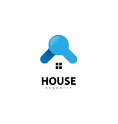 House security logo design icon vector
